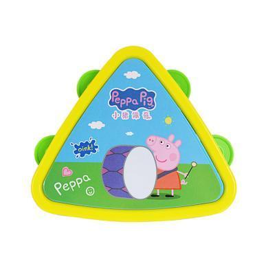 小豬佩奇兒童玩具三角玲鼓搖鈴手拍鼓嬰兒寶寶幼兒園手搖小樂器