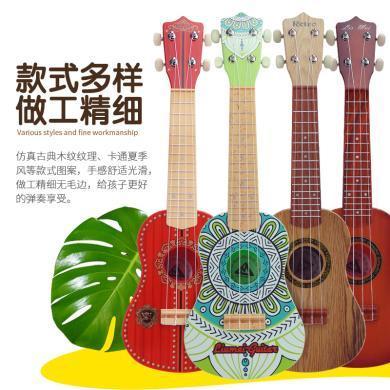 ?#20013;?#22810; 儿童早教乐器21寸尤克里里仿真吉他可弹奏四弦吉他初学者玩具 yqxg16