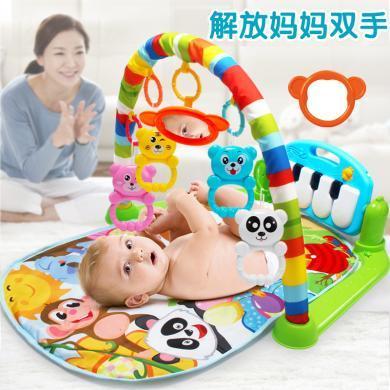 樂心多 健身架嬰兒玩具 新生兒腳踏鋼琴音樂毯兒童益智0-18個月 yqxg22