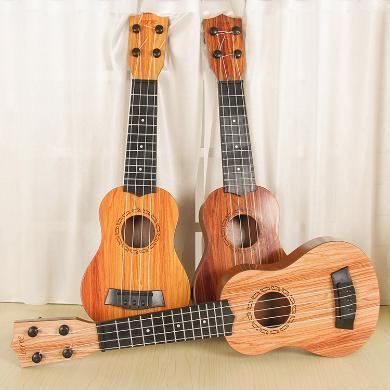 乐心多 儿童可弹奏尤克里里乐器大号仿桃心吉他玩具仿真吉他 yqxg01