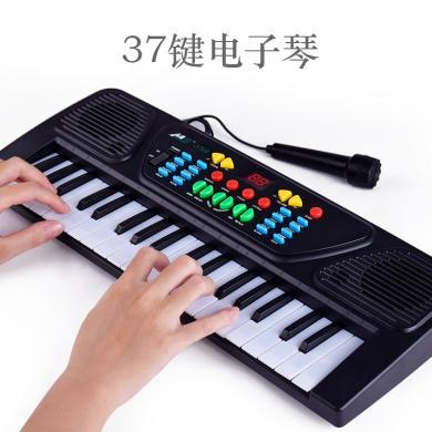乐心多 儿童早教仿真61键多功能电子琴 带麦克风钢琴 乐器玩具 yqxg11