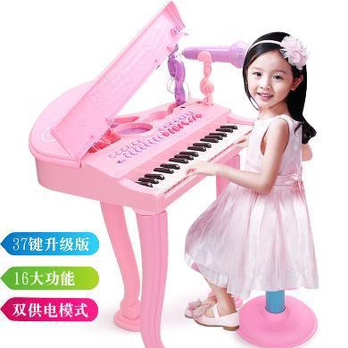 乐心多 电子琴仿真钢琴益智玩具儿童乐器多功能带麦克风早教礼物 yqxg10