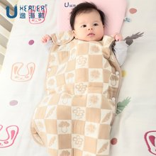 UHEALER海勒兔四叶草婴儿纯棉蘑菇睡袋 六层棉纱防踢被 舒适透气