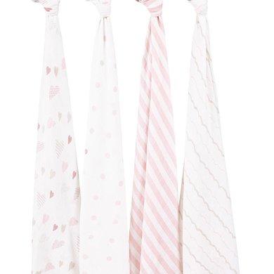 aden+anais美国品牌多功能抱毯婴儿襁褓新生儿包巾宝宝裹布4只装