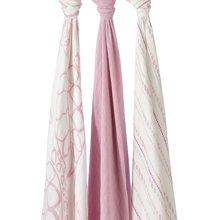aden+anais 美国品牌多功能竹棉襁褓婴儿包巾宝宝盖被抱毯 3只装