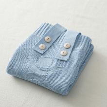 德国SonnenStrick有机棉针织睡袋婴幼儿睡袋宝宝睡袋 天蓝