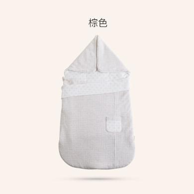 良良 新生兒四季抱被子包被嬰兒春秋薄款棉質抱毯包裹被寶寶包巾