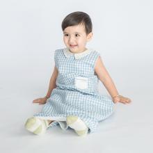 良良 嬰兒睡袋夏季兒童防踢被子麻棉薄款一體寶寶空調被透氣