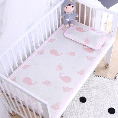 【熱銷款】媽唯樂 Marvelous Kids兒童涼席兩件套嬰兒冰絲涼 幼兒園席子夏季枕頭