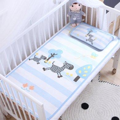 媽唯樂Marvelous Kids兒童涼席涼枕套裝嬰兒床冰絲涼幼兒園席子夏季枕頭
