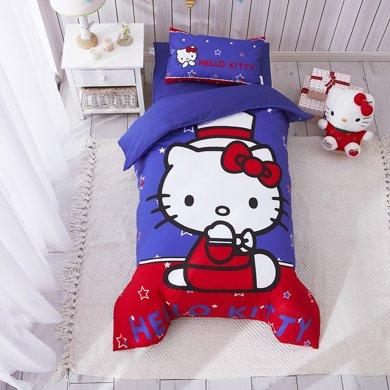 Marvelous kids嬰幼兒床上三件套幼兒園三件套大版花hellokitty全棉被套床單枕套三件套