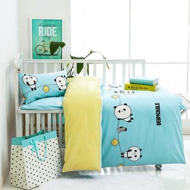 媽唯樂Marvelous kids 嬰幼兒床上三件套幼兒園三件套全棉被套床單枕套三件套120x150cm
