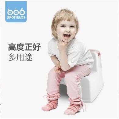 三個柚子防滑塑料嬰兒童浴室梯凳子家用衛生間寶寶孕婦洗澡小浴凳