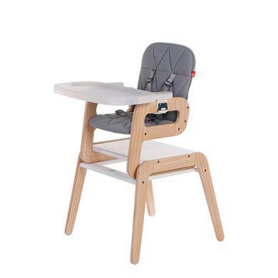 好孩子(gb)多功能組合餐椅 兒童餐椅 優質精選松木 灰色 MY185