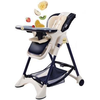 POUCH 帛琦 欧式婴儿餐椅儿童多功能宝宝餐椅可折叠便携式吃饭桌椅座椅K05