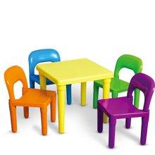 兒童桌椅幼兒園桌椅子寶寶學習桌椅塑料游戲桌子畫畫桌子一桌四椅