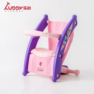 乐的 婴儿摇摇马儿童餐椅?#25509;?-3周岁带音乐玩具木马便携宝宝餐椅