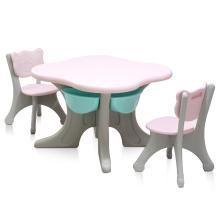 兒童韓版桌椅套裝寶寶學習書桌幼兒園寫一桌二椅塑料玩具