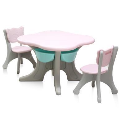 儿童韩版桌椅套装宝宝学习书桌幼儿园写一桌二椅塑料玩具