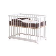 【贈床中床】Farska 白色歐式全實木環保多功能嬰兒床 BSYEC  包郵