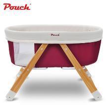 Pouch 帛琦 嬰兒床 實木寶寶床 搖籃床多功能便攜式可折疊旅行搖床H26