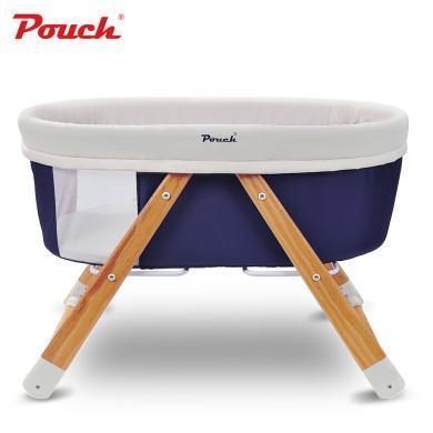 Pouch 帛琦 婴儿床 ?#30340;?#23453;宝床 摇篮床多功能便携式可折叠旅行摇床H26
