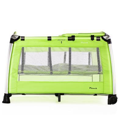 Pouch 帛琦 便携折叠婴儿床儿童铝合金床 宝宝的游戏床多功能bb床H13