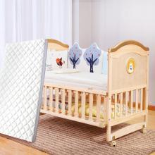 呵宝 婴儿床实木无漆多功能摇篮可拼接新生儿欧式厂家宝宝床