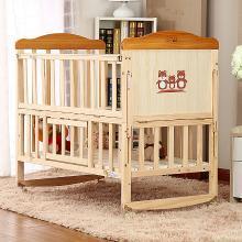 呵宝 婴儿床实木无漆儿童床拼接大床多功能宝宝床bb床