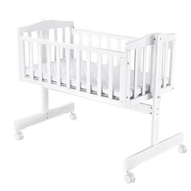 呵寶 嬰兒床歐式實木寶寶小搖床新生兒搖籃床多功能BB床帶蚊帳