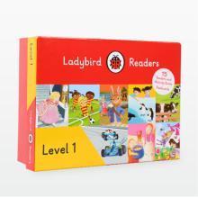 带音频!可点读!赠配套闪卡!快乐瓢虫第一阶 Ladybird Readers Level 1 15册书+15册练习册 分级读物 【盒装】【不带点读笔套装】