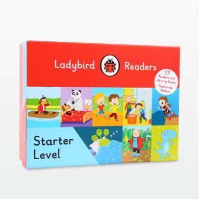 快樂瓢蟲起步階 Ladybird Readers Starter 17冊書+17冊練習冊 音素培養 常見詞啟蒙 【盒裝】【不帶點讀筆套裝】