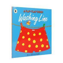 【点读版】吴敏兰书单 第70本交错页翻翻书 A Flip-Flap Book:Washing Line【平装】