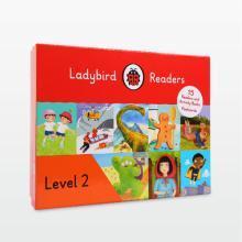 4岁+可用 专为中国儿童设计 快乐瓢虫第二阶 Ladybird Readers Level 2 【盒装】15册书+15册练习册 【不带点读笔套装】