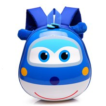 芃拉卡通蛋殼旅行包男女寶寶兒童背包幼兒園書包小孩雙肩包WT3475BLSS