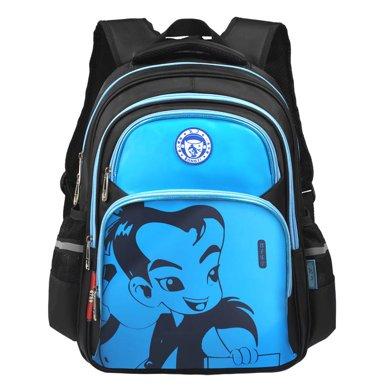 孔子書包1年級-6年級大容量分層 小學生書包 兒童書包 安全反光條K503藍色
