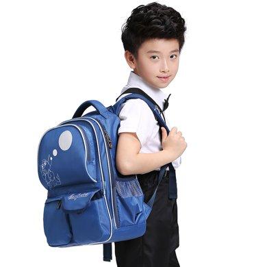 孔子书包 小学生书包 儿童书包 双肩背包2-5年级减负背包K501蓝色