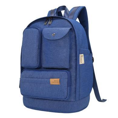 孔子书包kongzi中学生书包A308加密防水大容量多功能休闲双肩背包