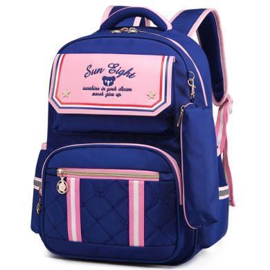 新款兒童書包小學生女2-5年級兒童雙肩包男孩背包韓版書包YG2590