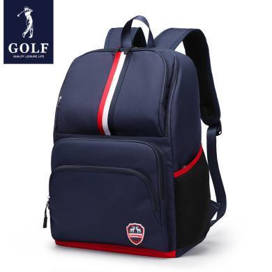 高爾夫GOLF大容量書包輕便時尚中小學生背包英倫雙肩包多隔層可裝15英寸筆記本 D933942