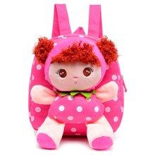 芃拉双肩包 儿童小书包 幼儿园小孩背包 卡通可爱女孩毛绒包YH347BLSS
