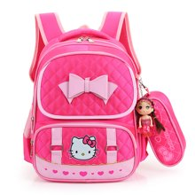 芃拉书包小学生女生1-2-3年级女童女孩双肩减负书包 KT猫 TY4572BLSS