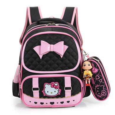 芃拉書包小學生女生1-2-3年級女童女孩雙肩減負書包 KT貓 TY4572BLSS