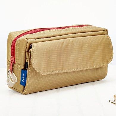 上品匯方形尼龍多功能收納筆袋純色簡約大容量筆袋學生男女鉛筆袋