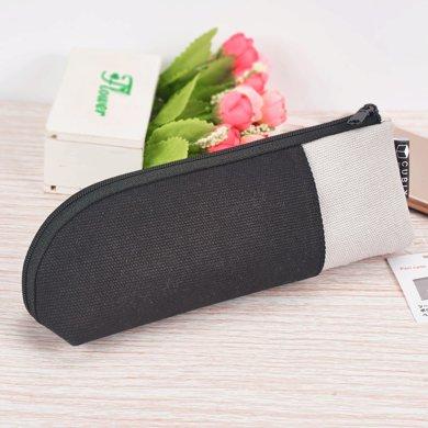 上品匯雙層圓頭防水筆袋簡約商務多功能筆袋便攜筆袋學生鉛筆袋