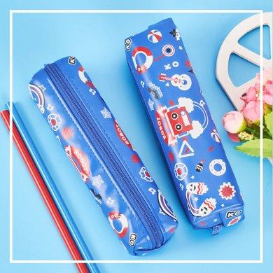 上品匯機器人筆袋迷你方形小筆袋皮質鉛筆袋學生筆盒原創防水收納
