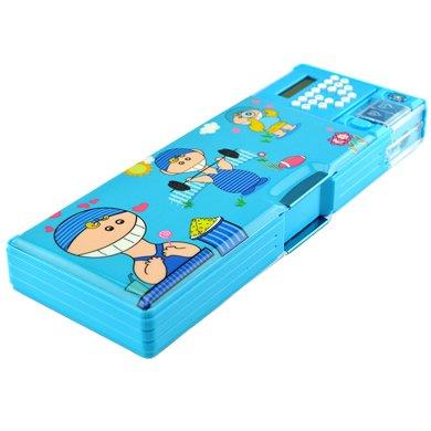上品匯兒童計算器鉛筆盒創意多功能按鍵文具盒男女學生鉛筆盒包郵