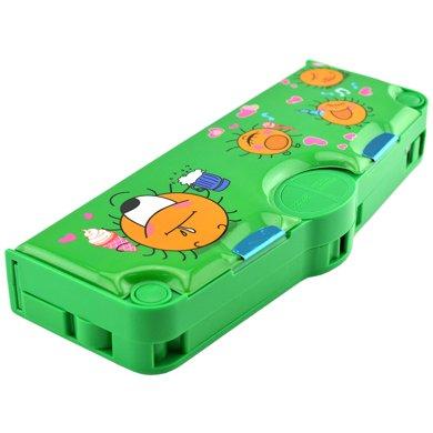 上品匯兒童弓形鉛筆盒創意多功能按鍵文具盒男女小學生鉛筆盒包郵