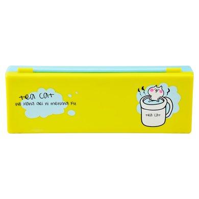 上品匯PP塑料筆盒清新可愛卡通簡單小學生男女孩鉛筆盒文具盒