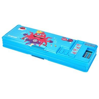 上品匯兒童計算器彈射鉛筆盒創意多功能按鍵文具盒男女學生盒包郵